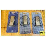 Beretta JM6NAN09 9MM Magazines. NEW in Box. Three