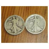 1917-D, 1917-S WALKING LIBERTY HALF DOLLARS