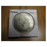1921 MORGAN SILVER DOLLAR, NICE