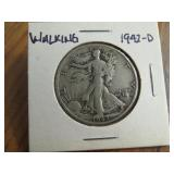 1942-D WALKING LIBERTY HALF DOLLAR