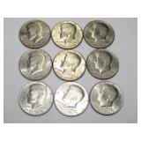 9 - BICENTENNIAL (1776-1976) KENNEDY HALF DOLLARS