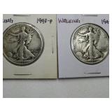 2 - 1943 WALKING LIBERTY HALF DOLLARS