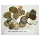 LOT OF 39 FOREIGN COINS