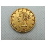 1843-O US TEN DOLLAR ($10) GOLD COIN