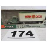 ERTL 1937 FORD TRACTOR/TRAILER BANK, WINN DIXIE,