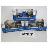 3 AMOCO TRUCK BANKS, NEW IN BOX