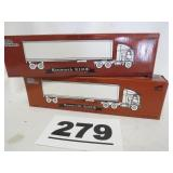 2 KENWORTH K100E TRUCKS, NEW IN BOX