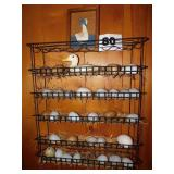 METAL RACK WITH EGGS