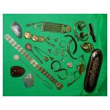 LOT OF COSTUME JEWELRY & MORE