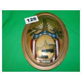 CONVEX GLASS STATUE OF LIBERTY REV. PAINTING