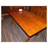 PINE TRESSEL TABLE, 6FT LONG X 36W X 29H