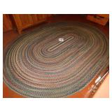 LARGE BRAIDED RUG 11FT-4 IN X 8FT-5 IN