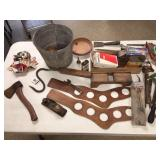 OFFICIAL SCOUT AXE-CANDLE HOLDERS-TOOLS ETC...