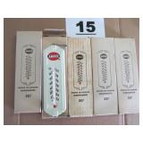 (5) NOS AMOCO WINDOW FRAME MOUNT THERMOMETERS