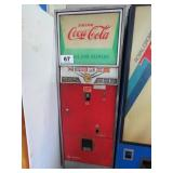 COIN OP COCA-COLA SODA DISPENCING MACHINE