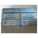 2 - SAFETY BELT SIGNS