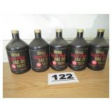 5 QUARTS TEXACO 30WT OIL