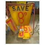 GASOLINE PRICE SIGNS
