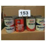 9 MIXED OIL CANS (FULL)