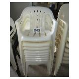 8 PLASTIC STACKING CHAIRS
