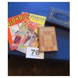 BLONDIE, PIRATES YR. BOOK, UNCLE TOM