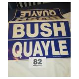 BUSH AND QUAYLE POSTER