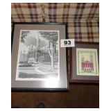 CROSS STITCH PICTURE & COURTHOUSE PICTURE