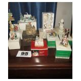 LOT OF FIGURINES: ROCKWELL; PRECIOUS MOMENTS,