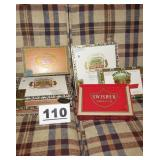 LOT OF EMPTY CIGAR BOXES