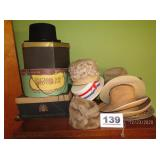 LOT OF HATS & HAT BOXES