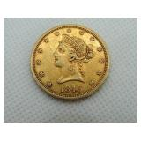 1843O - $10 GOLD PIECE, LIBERTY HEAD