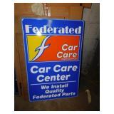 FEDEREATD CAR CARE SIGN