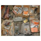 LOT OF LARGER SIZE NUTS/BOLTS/ FASTENERS ETC