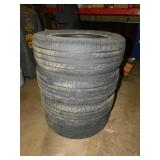 SET OF FOUR 225/65/R17 TIRES