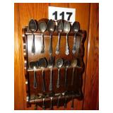 RACK OF COLLECTORS SPOONS