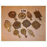 LOT OF BRASS TRIVETS