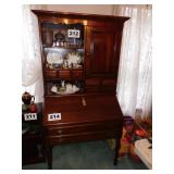 BEAUTIFUL 2 PC CHERRY PLANTATION DESK W/GALLERY
