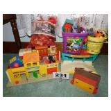 FISHER PRICE TOYS, WOODEN BLOCKS & MORE