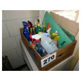 BOX LOT - CLEANERS & GARDEN ITEMS