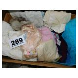 (4) BOXES OF VINTAGE CLOTHING & MORE