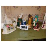 PARTIAL NATIVITY SET