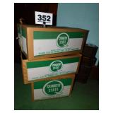 QUAKER STATE BOXES & ITEMS