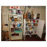 PAINT SUPPLIES & TWO CABINETS