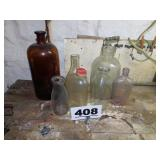 REFRIG WATER JUG & OTHER BOTTLES