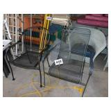 (2) OUTDOOR CHAIRS & TABLE