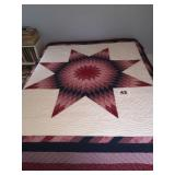 QUILT-STAR OF BETHLEHEM MEASURES 92IN X 108IN.