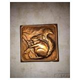 A. GILLES COPPER ART SQUIRRELL 4IN X 4IN.