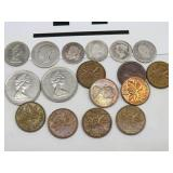 LOT OF CANADIAN COINS, SOME SILVER