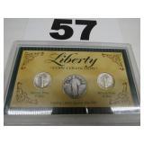 LIBERTY COIN COLLECTION, 2 DIMES & QUARTER
