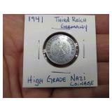 1941 THIRD REICH GERMANY NAZI COIN